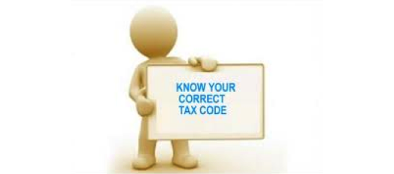 Know Your Correct Tax Code